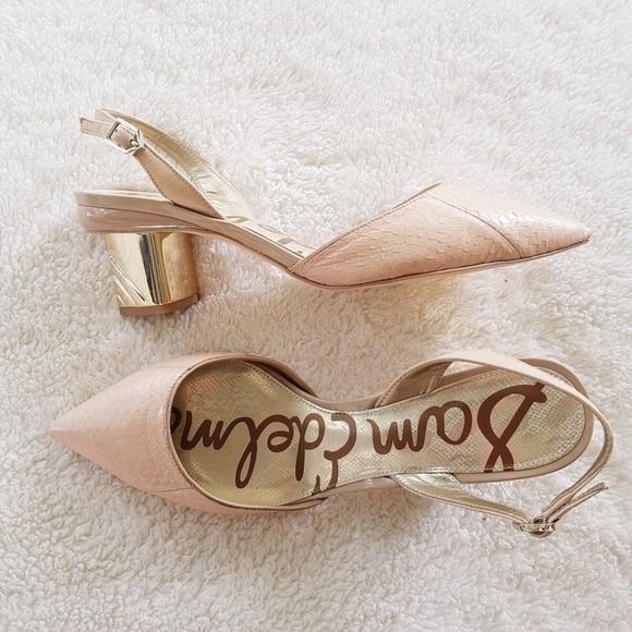 a4fea6b8bb7 Sam Edelman Carol Nude Pointed Slingback Shoes. M 5befde20de6f6237368f2c09